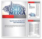 Careers/Industry: Social Media Word Cloud Word Template #10871