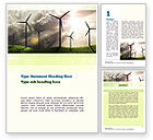 Technology, Science & Computers: Wind Turbine Word Template #10872