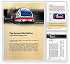 Cars/Transportation: Electric Locomotive Word Template #10874