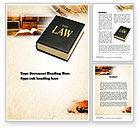 Legal: Modèle Word de jurisprudence #10880