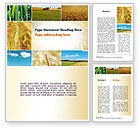 Agriculture and Animals: Wheat Cultivation Word Template #10884