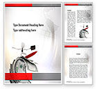 Financial/Accounting: Man Surfing on Money Word Template #10887