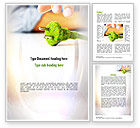 Nature & Environment: Green Plug Word Template #10890