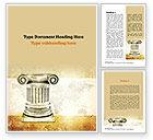 Education & Training: Ionic Column Word Template #10892