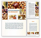 Food & Beverage: Nuts Collage Word Template #10898