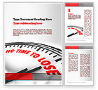 Business Concepts: Clock Counting Down Word Template #10910