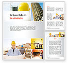 Construction: Templat Word Konstruksi Kolase #10923