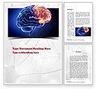 Medical: Human Brain Frontal Lobe Word Template #10925