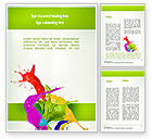 Art & Entertainment: Paint Splash Word Template #10929