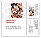 People: Human Faces Puzzle Word Template #10946
