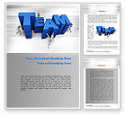 Careers/Industry: Teambuilding Word Template #10951