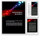 Abstract/Textures: Rainbow Spots Word Template #10952