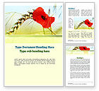 Agriculture and Animals: Poppy in Wheat Word Template #10953