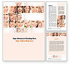 People: Smiling People Word Template #10963