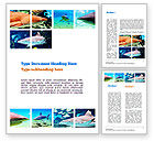 Nature & Environment: Sharks Word Template #10964
