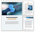 Financial/Accounting: Digital Dollar Word Template #10968