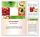 Agriculture and Animals: Apple Collage Word Template #10975