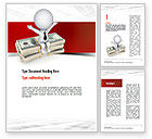 Financial/Accounting: Sitting on Dollar Packs Word Template #10987