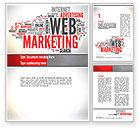 Careers/Industry: Web Marketing Word Cloud Word Template #10989