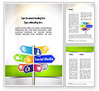 Careers/Industry: Social Media Signs Word Template #10992