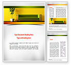 Careers/Industry: Interior in Lime Word Template #10998