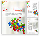 Abstract/Textures: 3D Colored Cubes Word Template #10999