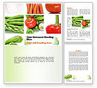 Food & Beverage: Different Vegetables Collage Word Template #11002