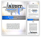 Financial/Accounting: Audit Word Cloud Word Template #11008