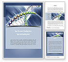 Education & Training: Human Genome Word Template #11012