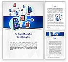 Technology, Science & Computers: Modelo do Word - rede de smartphones #11017
