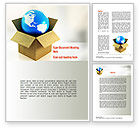 Careers/Industry: Global Supply Word Template #11037