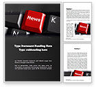 Careers/Industry: Online Newsletter Word Template #11038
