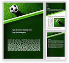 Sports: Soccer Ball Near Line Word Template #11039