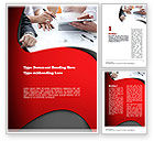Business: Working Process at Business Meeting Word Template #11045
