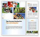 Education & Training: Summer Camp Fun Word Template #11048