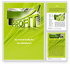Business Concepts: Profit Growth Word Template #11049
