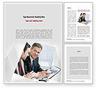 Financial/Accounting: Financial Manager Word Template #11051