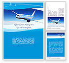 Cars/Transportation: Airplane in the Sky Word Template #11052
