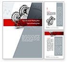 Construction: Perpetuum Mobile Gears Word Template #11055