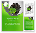 Food & Beverage: Tea Leaves Word Template #11065