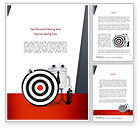 Business Concepts: Business Android with Target Word Template #11073