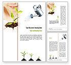 Education & Training: Modello Word - Educazione verde #11082