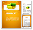 Business Concepts: Colorful 3D Pie Chart Word Template #11083