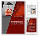 Financial/Accounting: Savings Under Umbrella Word Template #11084