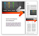Business Concepts: Quality Speed Results Word Template #11087