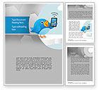 Telecommunication: Tweeting Word Template #11093