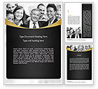 People: Happy Employees Word Template #11095
