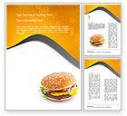Food & Beverage: Tasty Burger Word Template #11097