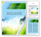 Nature & Environment: Green Dawn Word Template #11098