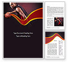 Sports: Basketball Theme Word Template #11105